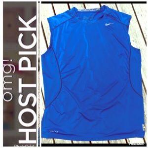 Nike Pro Combat Dri Fit Fitted SL XXL Blue